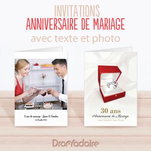 Invitations fête d'anniversaire de mariage