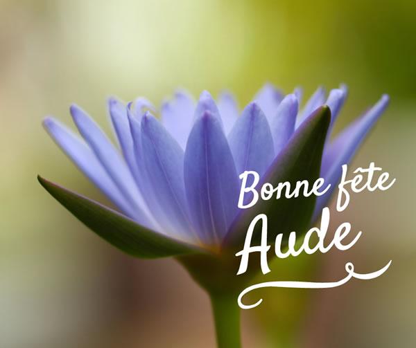 bonne fête Aude