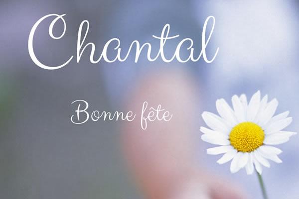Carte Bonne Fete Chantal.Le Prenom Chantal