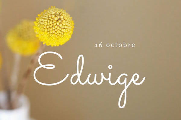 Le pr nom edwige - Edwige prenom ...