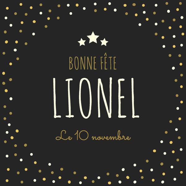 bonne fête Lionel