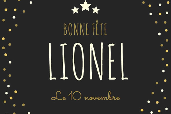 Le Prenom Lionel
