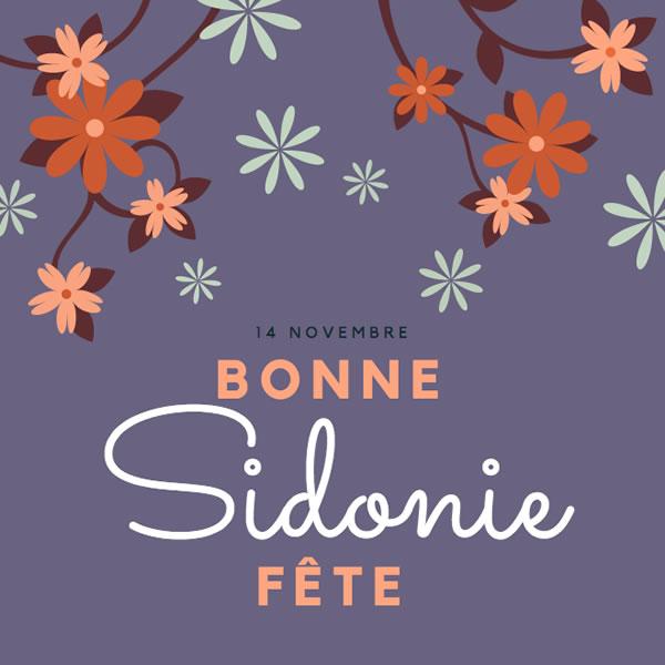 bonne fête Sidonie