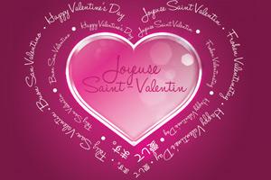 Joyeuse Saint-Valentin dans toutes les langues