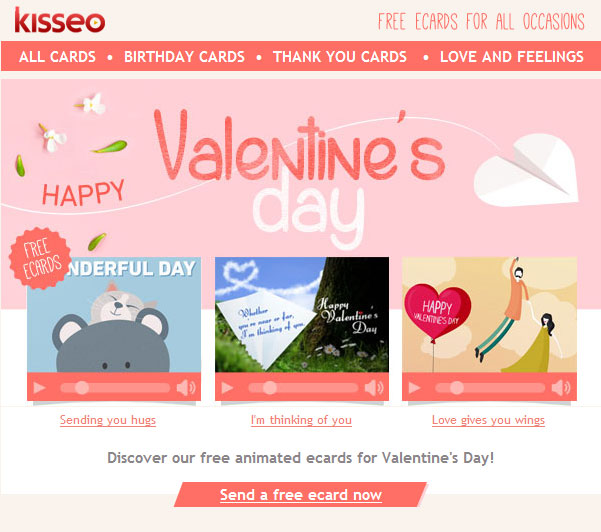 Kisseo eCards Newsletter
