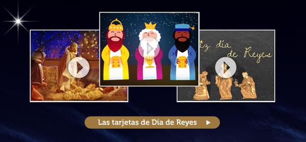 Las tarjetas Feliz dia de Reyes