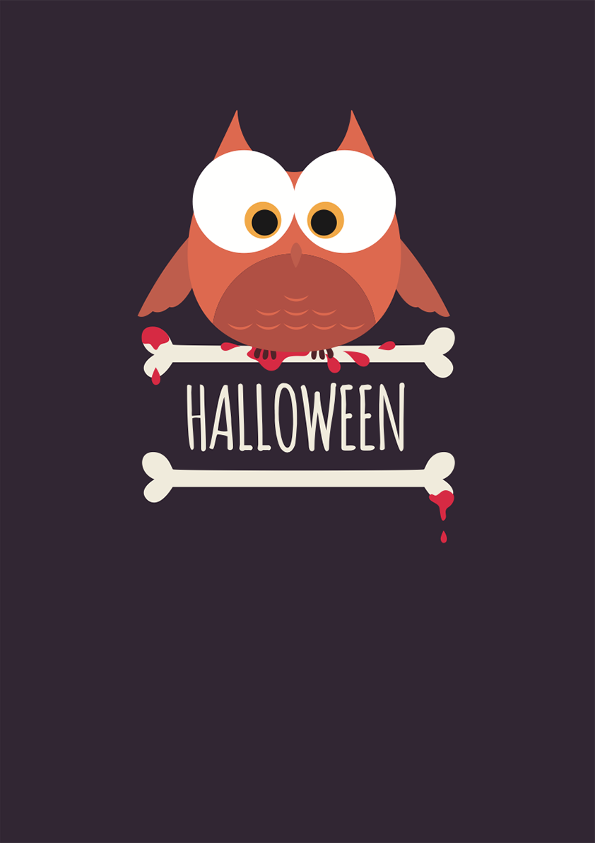 Carte papier dromadaire Halloween